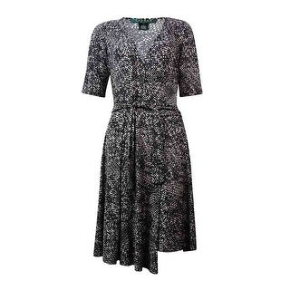 Lauren Ralph Lauren Women's Half-Sleeve Jersey Wrap Dress