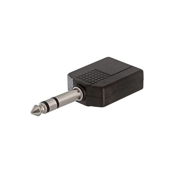 6.35mm Stereo Plug to 2x6.35mm Stereo Jack Adapter