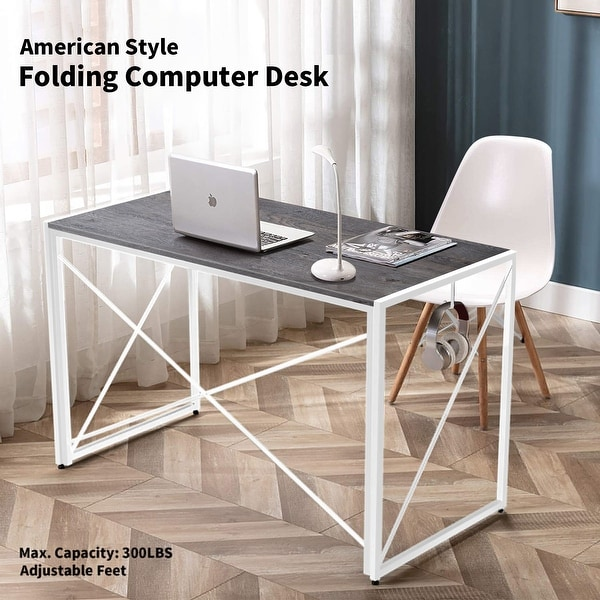 Nova Furniture Folding Home Office Computer Desk, multifunction Laptop Table Portable Study Writing for small space-Grey Desktop. Opens flyout.