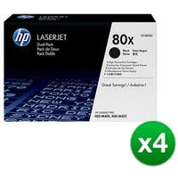 HP 80X Black Original LaserJet Toner Dual Cartridge (CF280XD)(4-Pack)