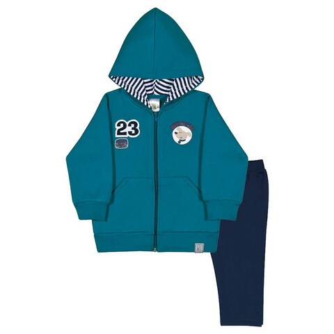 Baby Boy Outfit Set Hoodie Sweatshirt and Pants Pulla Bulla Sizes 3-12 Months