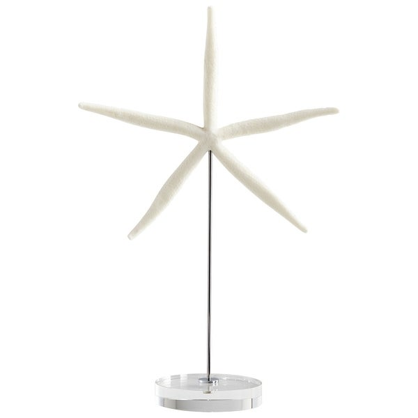 Cyan Design 09125 Under The Sea Crystal, Iron and Resin Starfish Statue - White