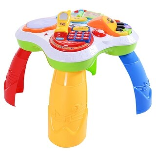 Costway Learning Table Fun Laugh And Learn Educational Toy Kids Toddler Activity Center - as pic