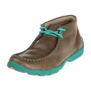 Twisted X Casual Shoes Girls Boys Kids Mocs Lace Bomber Turq YDM0017