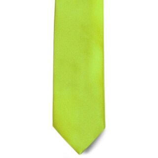 Men's 100% Microfiber Lime Tie