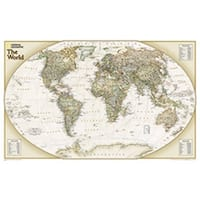 National Geographic Maps RE01020520 World Explorer Executive Laminated