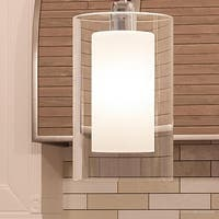 """Luxury Contemporary Pendant Light, 13.5""""H x 7.75""""W, with Modern Farmhouse Style, Polished Chrome Finish by Urban Ambiance"""