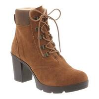 Bearpaw Women's Marlowe Lace-Up Ankle Boot Hickory/Chocolate Suede