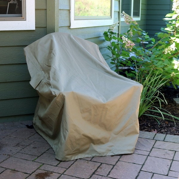 Pleasant Sunnydaze Deep Seating Patio Chair Protective Cover Cover Only Khaki Patio Chair Cover Download Free Architecture Designs Scobabritishbridgeorg