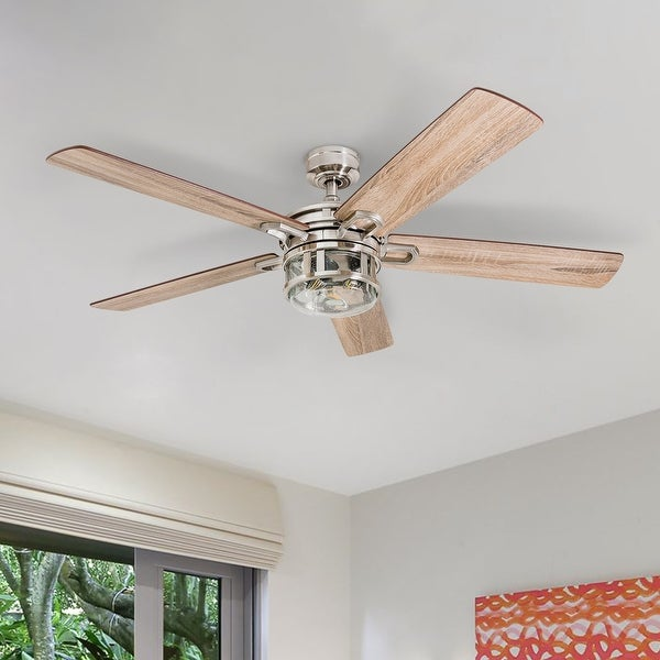 Honeywell Bontera Brushed Nickel LED Craftsman Ceiling Fan. Opens flyout.