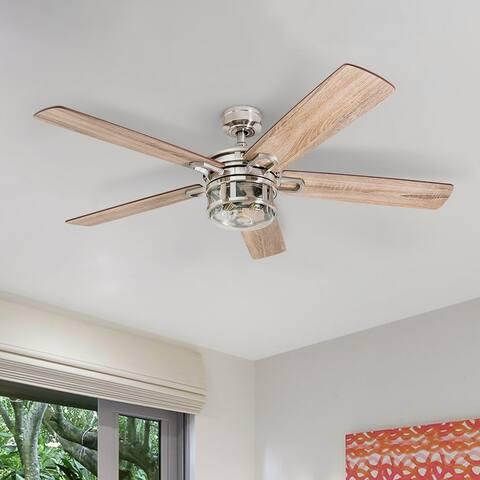 Honeywell Bontera Brushed Nickel LED Craftsman Ceiling Fan