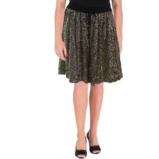 Essentiel Womens Knee-Length Sequined Flare Skirt
