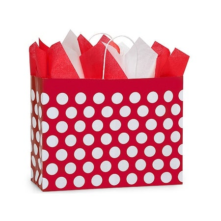 Pack Of 250 Vogue Red Polka Dots Paper Bags 16 X 6 12 5