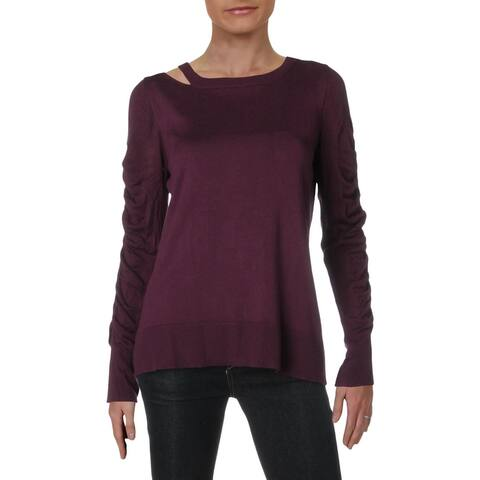 Love Scarlett Womens Sweater Cut-Out Cold Shoulder