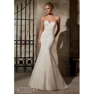 Strapless Beaded Tulle Sweetheart