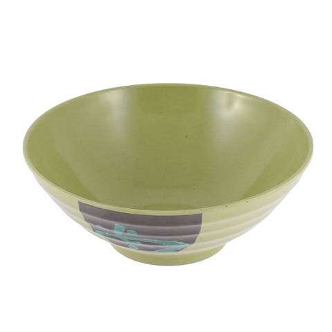 "Unique Bargains Restaurant Tableware Chinese Character Printed Salad Food Serving Bowl 8.5"" Dia"