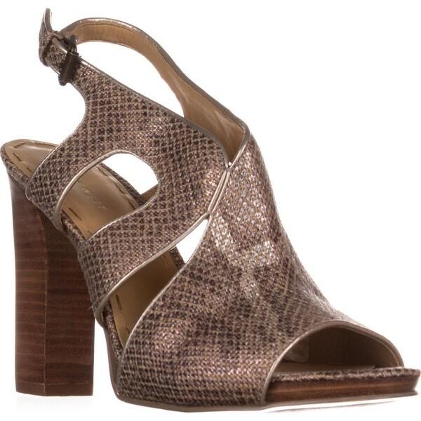 Nine West Misspriss Ankle-Strap Sandals, Bronze/Light Natural - 9 us