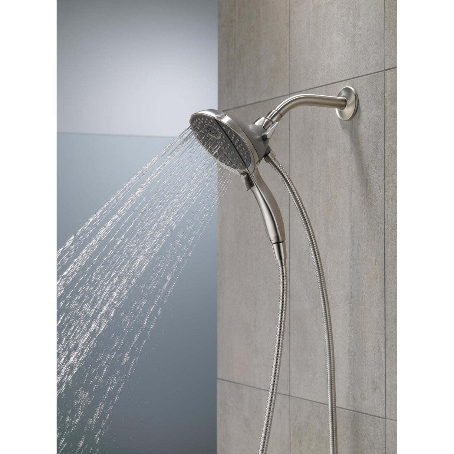 Delta 58467 2 5 Gpm In2ition 2 In 1 Multi Function Shower Head And Hand Shower