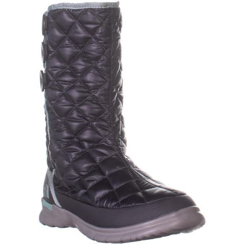 The North Face Thermoball Button-Up Boots, Shiny Blackened Pearl / Blue Haze - 6 US / 37 EU