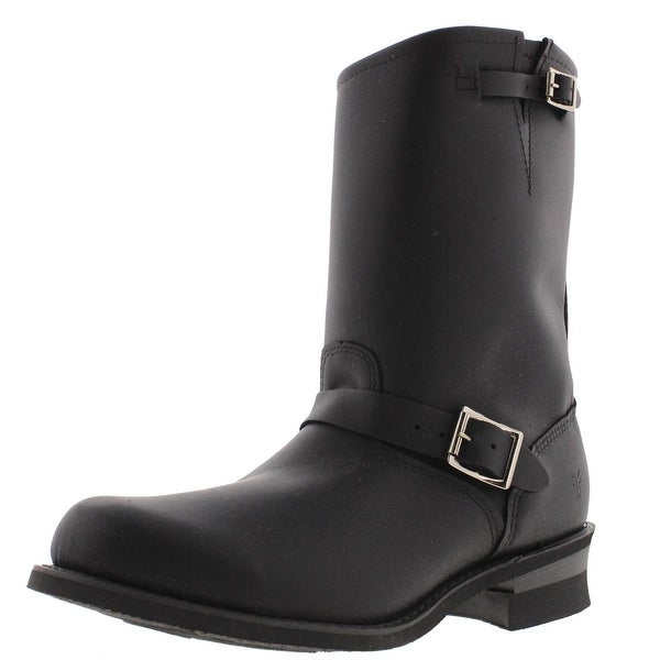Frye Womens Engineer Motorcycle Boots Leather Mid Calf