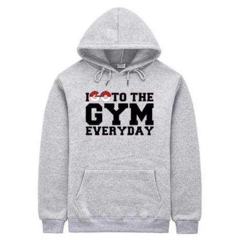 Pokemon Inspired Men's Sweatshirts Poke Gym everyday Grey