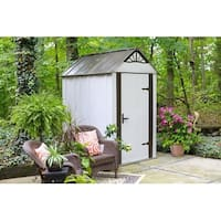 Arrow Designer Hot Dipped Galvanized Steel Shed 4' W x 6' L With swing doors / DSM46