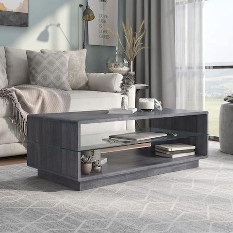 Furniture of America Jessica Grey Contemporary Coffee Table