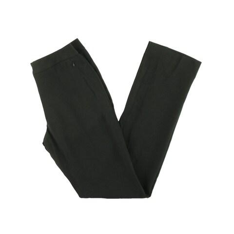 Elie Tahari Womens Leena Dress Pants Flat Front Faux Pockets
