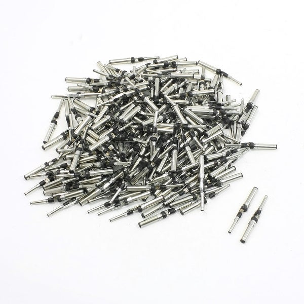 Unique Bargains 35mm Length 3.5mm to 2.0mm DC Power Male Plug Connector Adapter 200 Pieces
