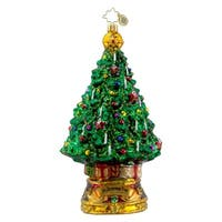 Christopher Radko Glass O Christmas Tree Holiday Ornament #1016310 - green