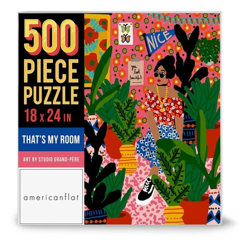 """Americanflat 500 Piece Jigsaw Puzzle, 18x24 Inches, """"Thats My Room"""" Artwork by Studio Grand-Pere"""