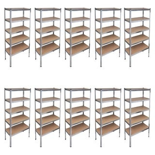 vidaXL Storage Rack Garage Shelf 10 pcs