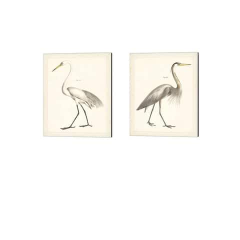Wild Apple Portfolio 'Vintage Heron' Canvas Art (Set of 2)