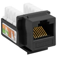 Cat5e Punch Down Keystone Jack - Black