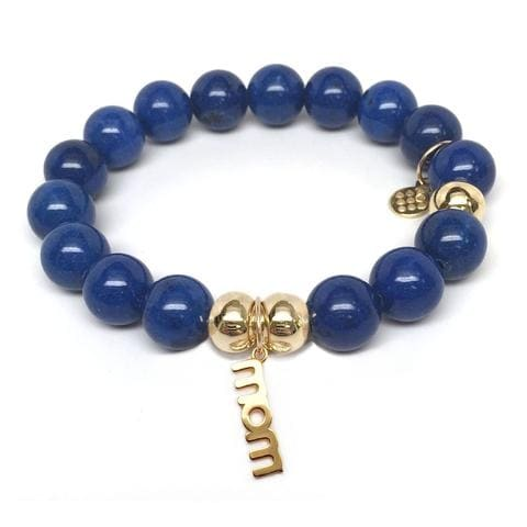 Julieta Jewelry Mom Charm Blue Jade Bracelet