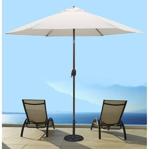 Tropishade 9 ft. Aluminum Bronze Patio Umbrella with Natural Cover