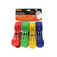 Jumbo Plastic Clips - Pack of 24