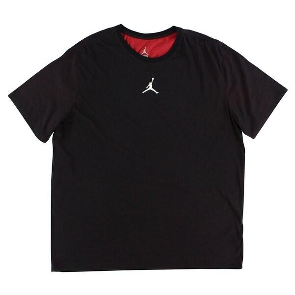 db3b3b4b Shop Jordan Mens Motion Dri FIT T Shirt Heather Black - heather black/red -  XxL - Free Shipping On Orders Over $45 - Overstock - 22614136