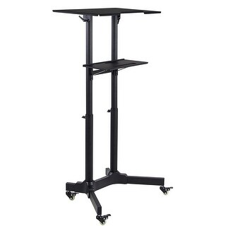 Mount-It! Portable Standing Desk Presentation Lectern Laptop Stand Up Desk with Caster Wheels - MI-7971