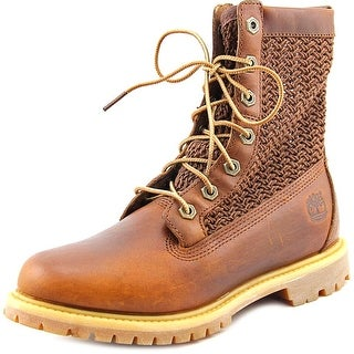 Timberland Auth Open Weave Round Toe Leather Work Boot