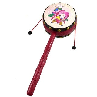 Nonslip Handle Dual Side Rattle Drum Sound Toy Gift for Toddlers
