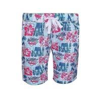 Sun Emporium Little Boys Red Blue Vintage Surfer Print Board Shorts