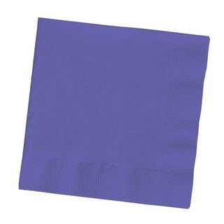 """Club Pack of 500 Classic Purple 3-Ply Paper Party Lunch Napkins 6.5"""""""