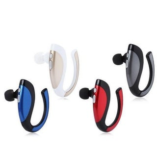 Bluetooth Wireless Headset Ear Hooks Earphones Noise Cancelling In-ear Earbuds With Mic for iPhone and Android