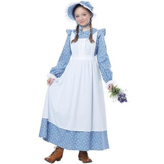 California Costumes Pioneer Girl Child Costume - Blue/White