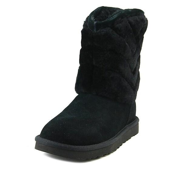 3d6c50fe15b Shop Ugg Australia Tania Women Round Toe Suede Black Winter Boot ...
