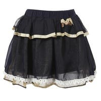 Richie House Girls' Layered Skirt with Elastic Waistband