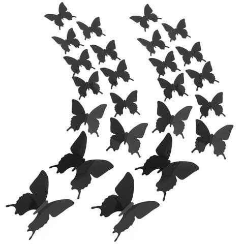 24pcs 3D Butterfly DIY Wall Sticker with Art Decals Sticker for Decoration