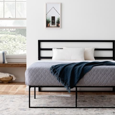 Brookside Contemporary Double Panel Metal Platform Bed