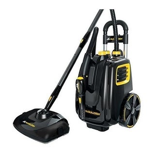 McCuloch MC1385HD Deluxe Heavy Duty Canister Steam Cleaner - Black